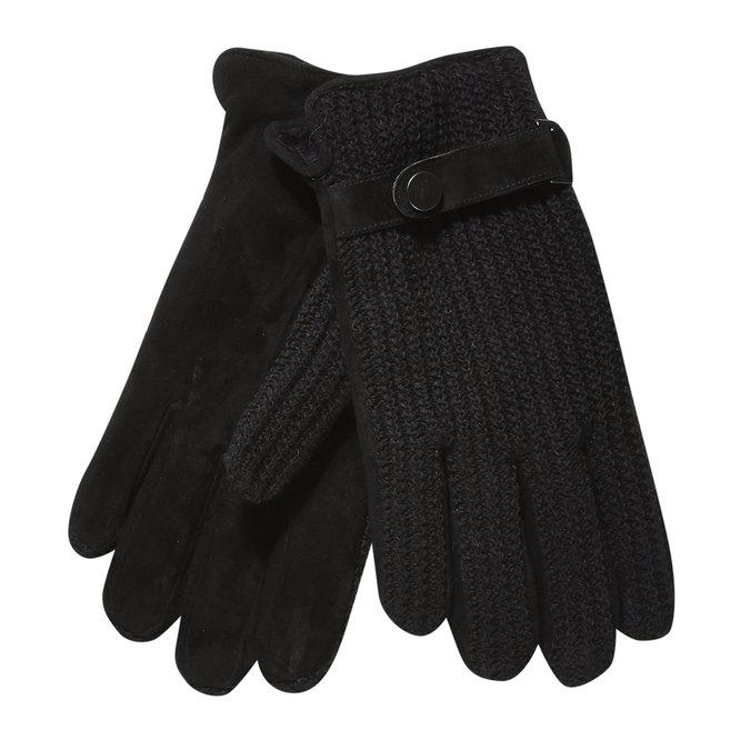 Herren-Handschuhe mit gestricktem Teil bata, Schwarz, 909-6295 - 13