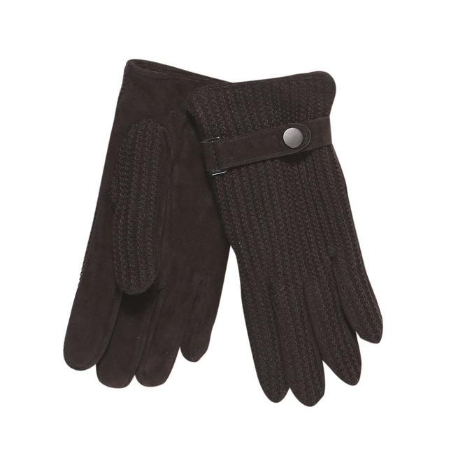 Herren-Handschuhe mit gestricktem Teil bata, Braun, 909-4295 - 13