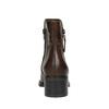 Leder-Stiefeletten mit Reissverschluss bata, Braun, 694-4600 - 17