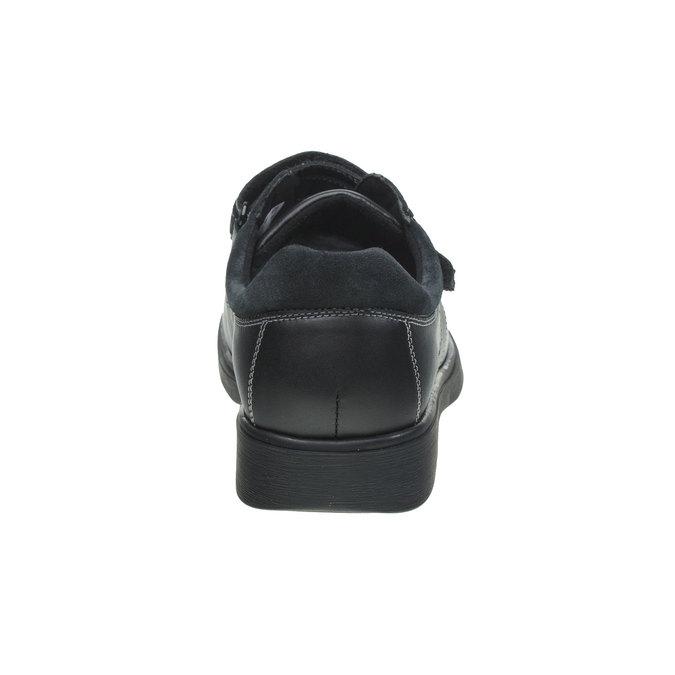 Leder-Sneakers bata, Schwarz, 834-6001 - 17