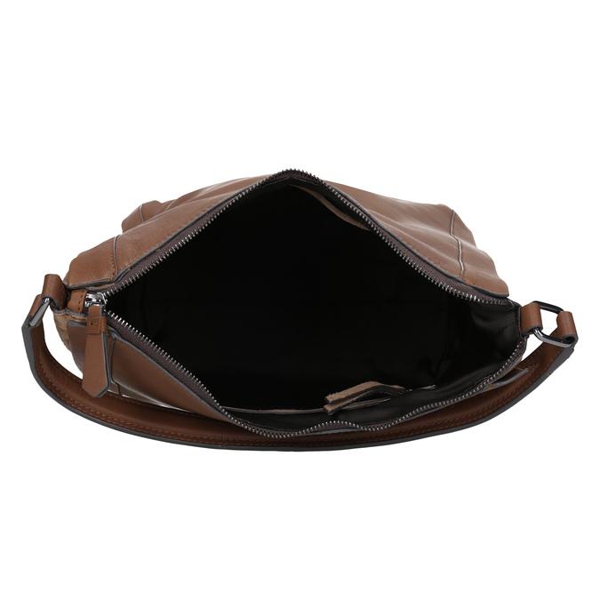 Braune Lederhandtasche bata, Braun, 964-3254 - 15