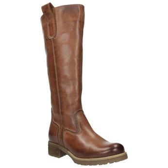Braune Lederstiefel bata, Braun, 594-4613 - 13