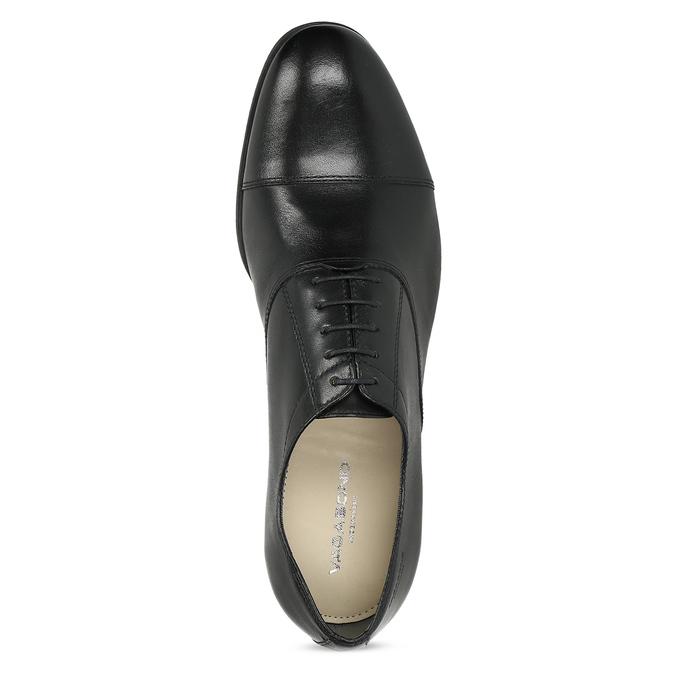 Schwarze Lederhalbschuhe im Oxford-Stil vagabond, Schwarz, 824-6048 - 17