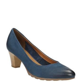 Lederpumps bata, Blau, 626-9639 - 13