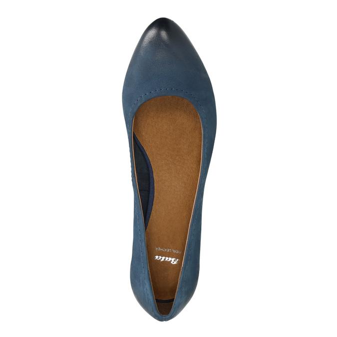 Lederpumps bata, Blau, 626-9639 - 19