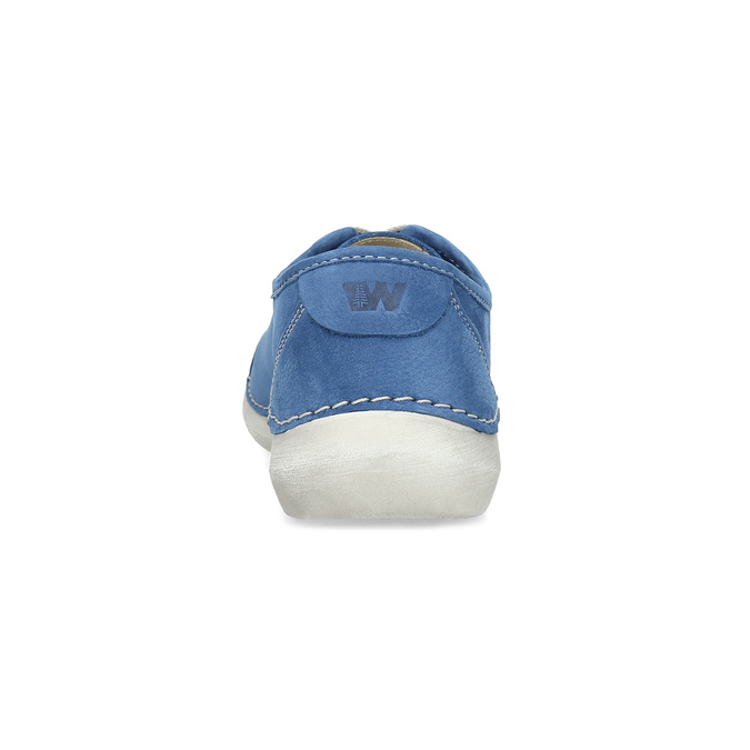 Legere Lederhalbschuhe weinbrenner, Blau, 546-9603 - 15
