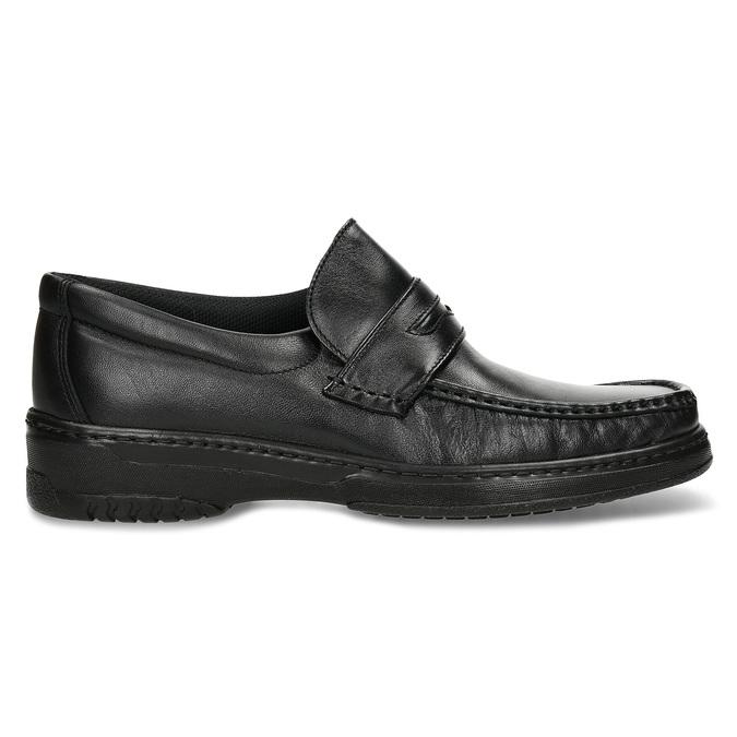 Herren-Mokassins aus Leder mit Steppung pinosos, Schwarz, 814-6624 - 19