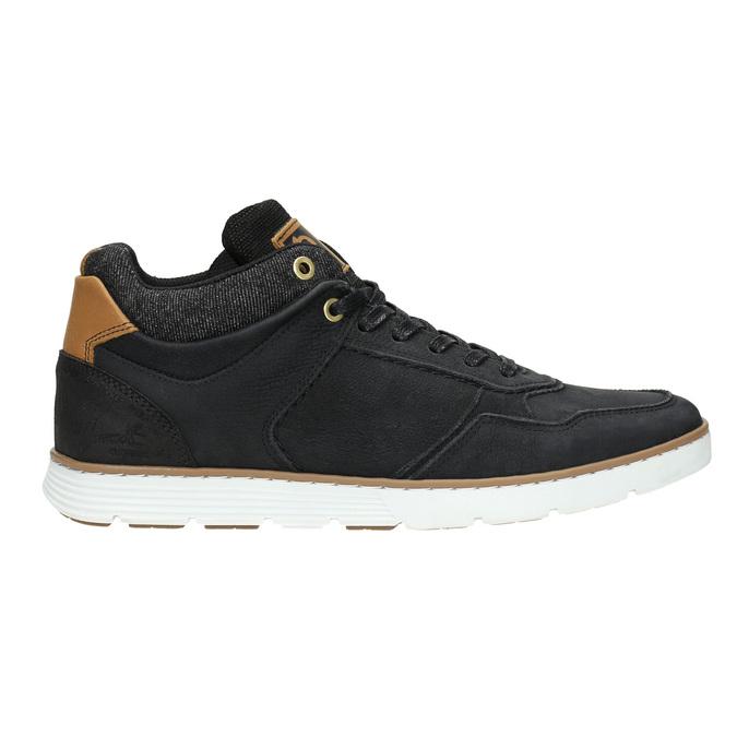 Knöchelhohe Herren-Sneakers aus Leder bata, Schwarz, 846-6641 - 15