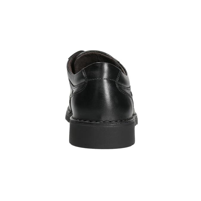 Legere Herrenhalbschuhe aus Leder mit Steppnaht comfit, Schwarz, 824-6987 - 17