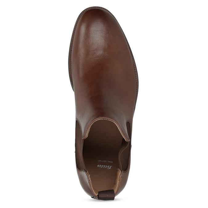 Braune Chelsea Boots aus Leder bata, Braun, 896-3400 - 17