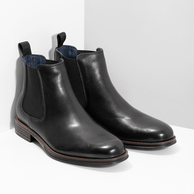 Chelsea Boots aus Leder bata, Schwarz, 894-6400 - 26