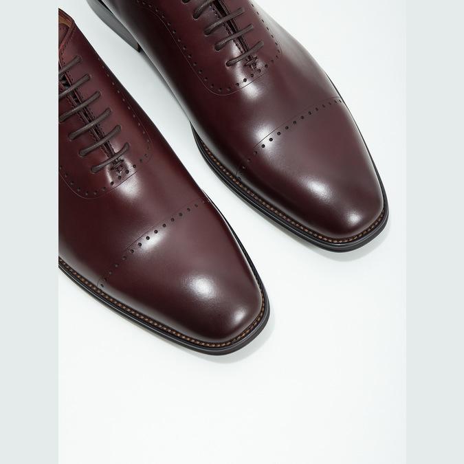 Herren-Lederhalbschuhe im Oxford-Look bata, Rot, 826-5683 - 14
