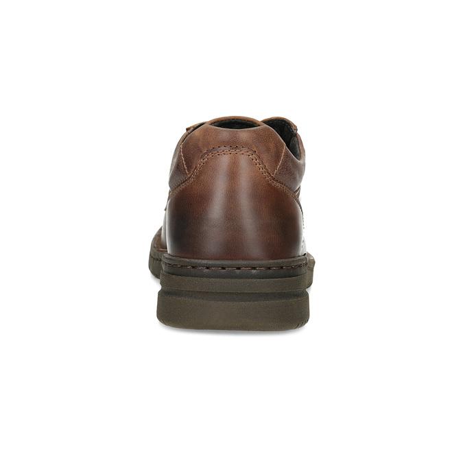 Braune Halbschuhe aus Leder bata, Braun, 826-4918 - 15
