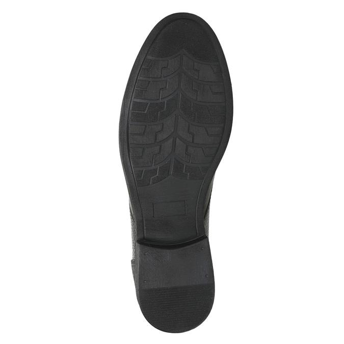 Knöchelschuhe aus strukturiertem Leder bata, Grau, 826-2616 - 19