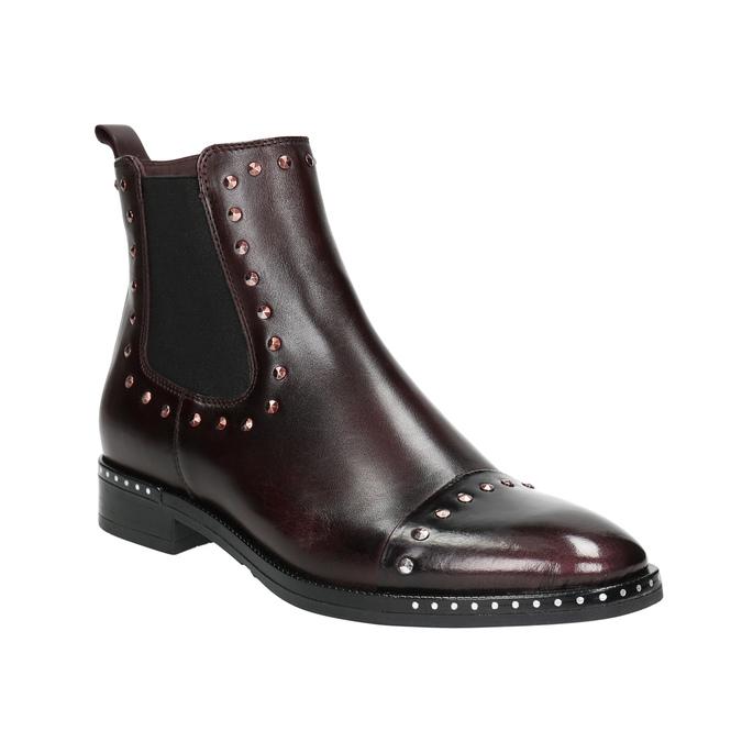 Damen-Chelsea-Boots aus Leder bata, Rot, 596-5679 - 13