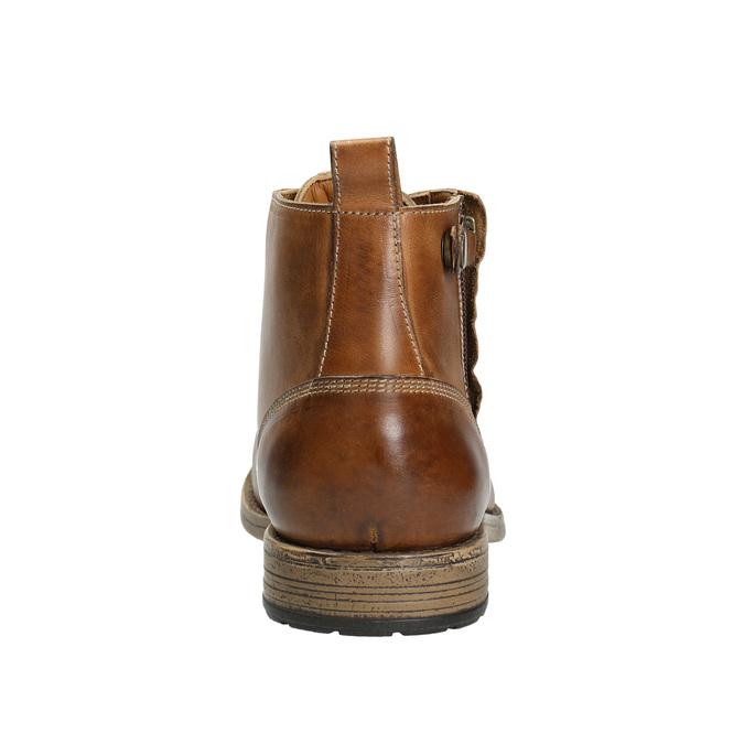 Braune Stiefeletten aus Leder bata, Braun, 896-3684 - 17