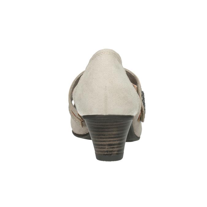 Lederpumps der Weite H bata, Beige, 623-2600 - 16