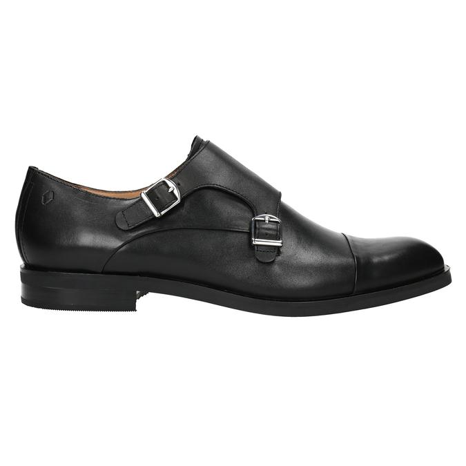 Herren-Monk-Shoes aus Leder vagabond, Schwarz, 814-6023 - 26