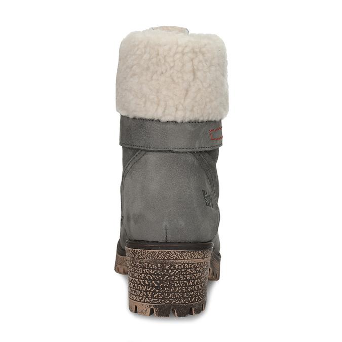 Damenstiefel mit Fell weinbrenner, Grau, 696-2168 - 15