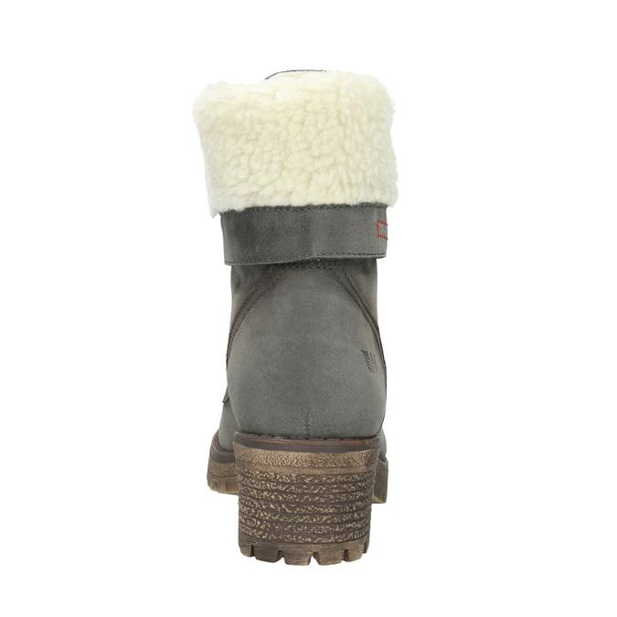 Damenstiefel mit Fell weinbrenner, Grau, 696-2168 - 16