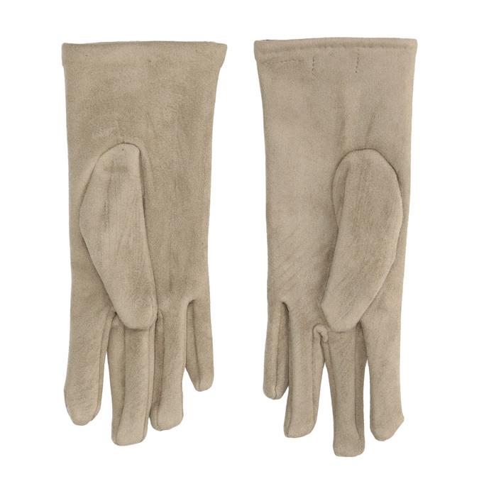 Damen-Stoffhandschuhe mit Knöpfen bata, Beige, 909-8612 - 16