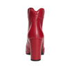Rote Stiefeletten aus Leder bata, Rot, 794-5652 - 15