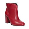 Rote Stiefeletten aus Leder bata, Rot, 794-5652 - 13