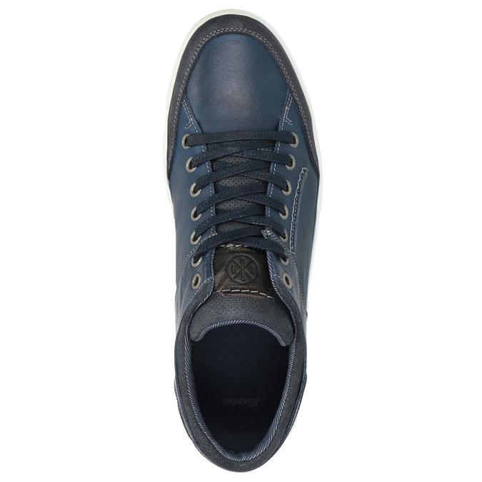 Blaue Leder-Sneakers bata, Blau, 846-9927 - 15