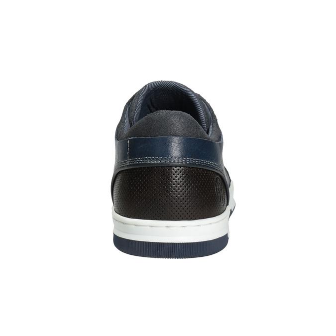 Blaue Leder-Sneakers bata, Blau, 846-9927 - 16