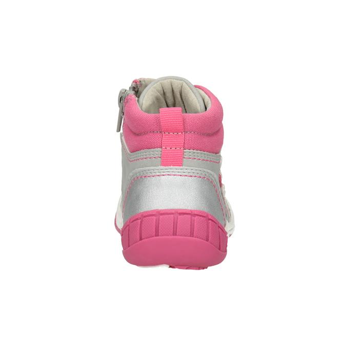 Kinder-Knöchelschuhe mit Stickmotiv bubblegummer, Grau, 121-2619 - 16