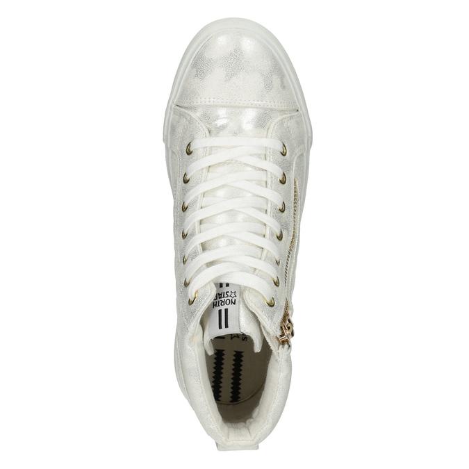 Knöchelhohe Sneakers mit Steppung north-star, Silber , 541-1600 - 17