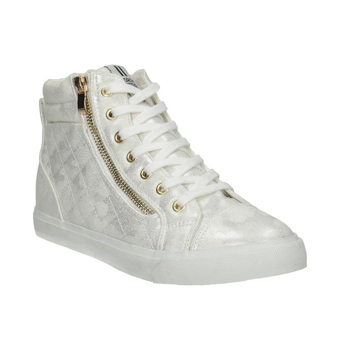 Knöchelhohe Sneakers mit Steppung north-star, Silber , 541-1600 - 13