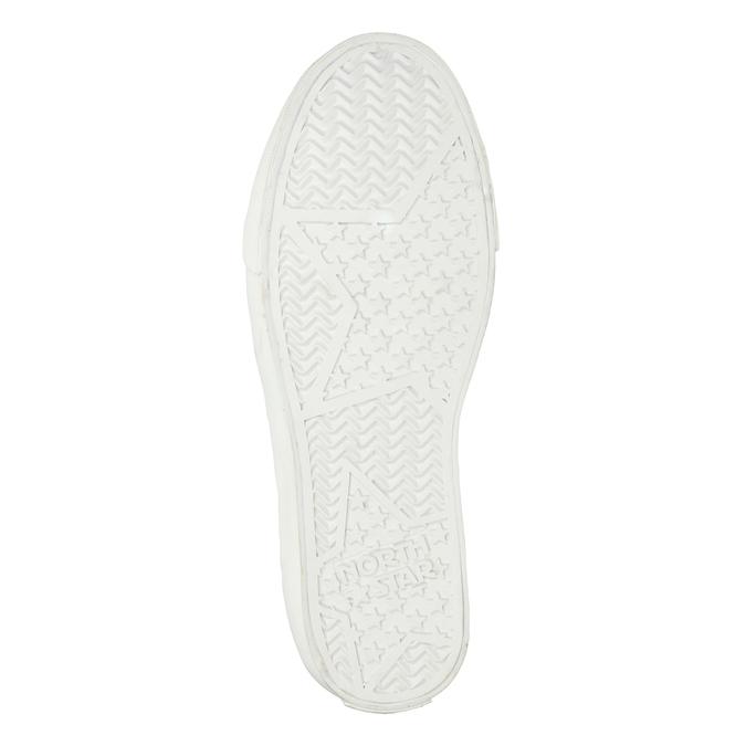 Knöchelhohe Sneakers mit Steppung north-star, Silber , 541-1600 - 19