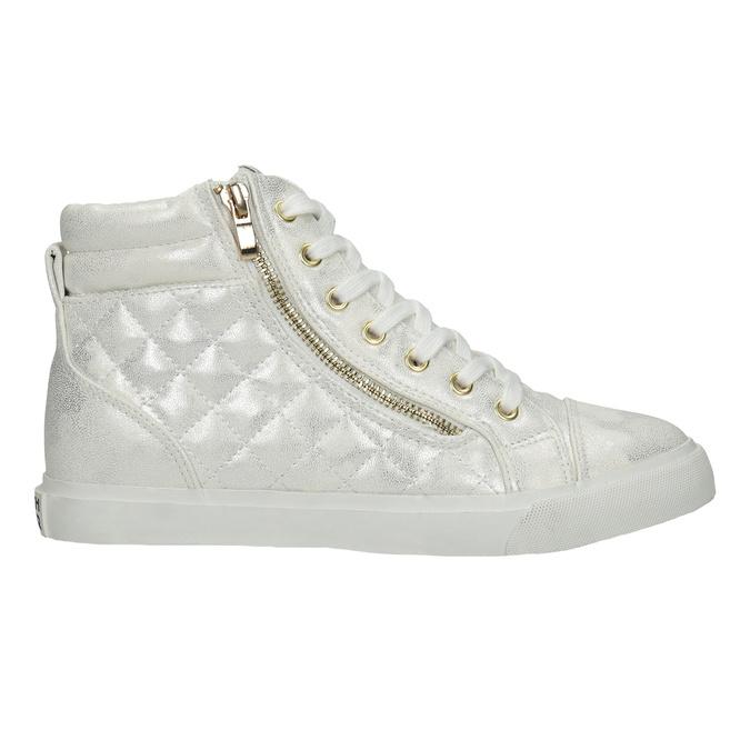 Knöchelhohe Sneakers mit Steppung north-star, Silber , 541-1600 - 16