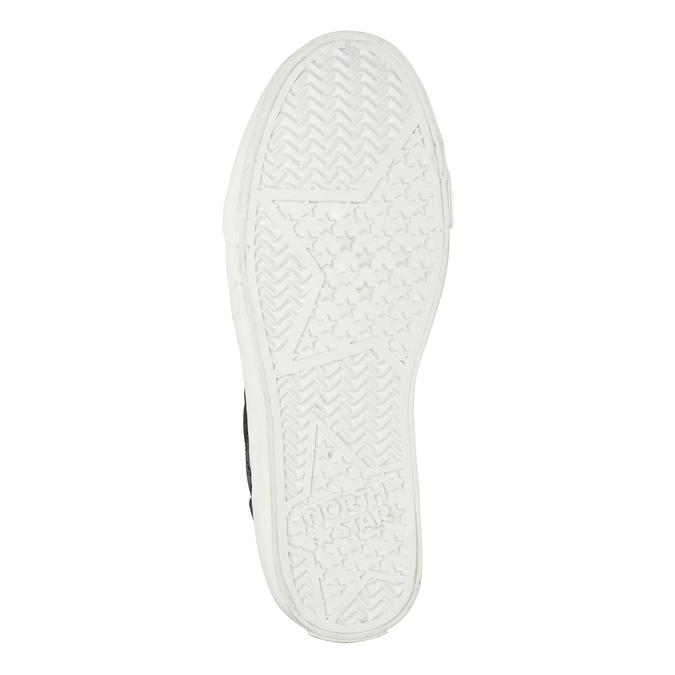 Schwarze, knöchelhohe Damen-Sneakers north-star, Schwarz, 541-6600 - 19