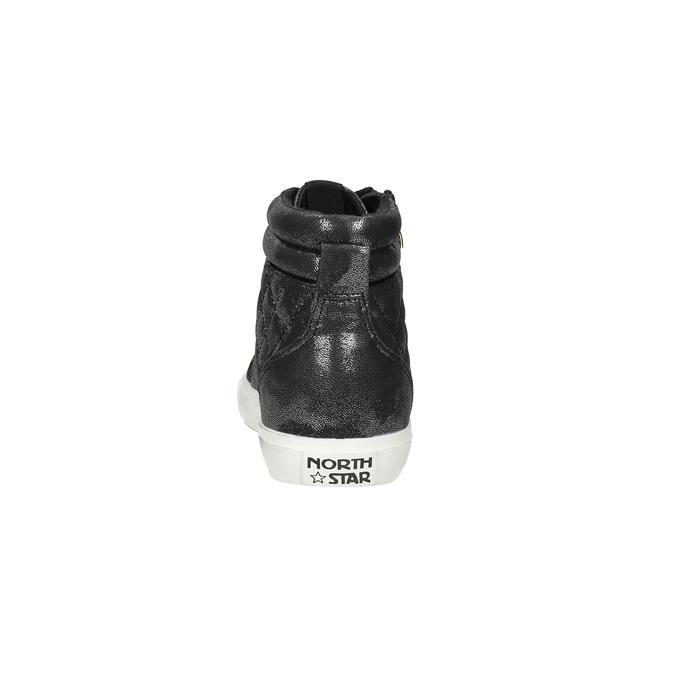 Schwarze, knöchelhohe Damen-Sneakers north-star, Schwarz, 541-6600 - 15