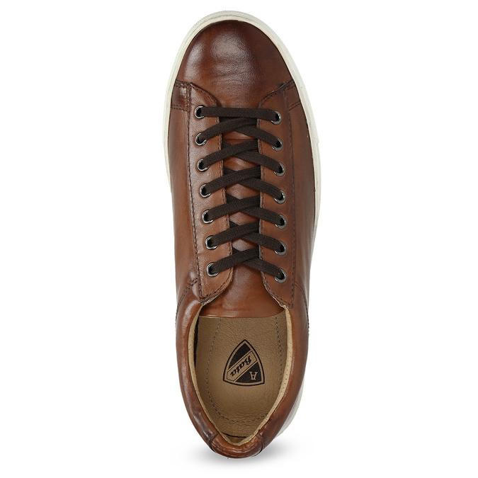 Herren-Sneakers aus Leder bata, Braun, 846-4648 - 17