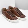 Herren-Sneakers aus Leder bata, Braun, 846-4648 - 26