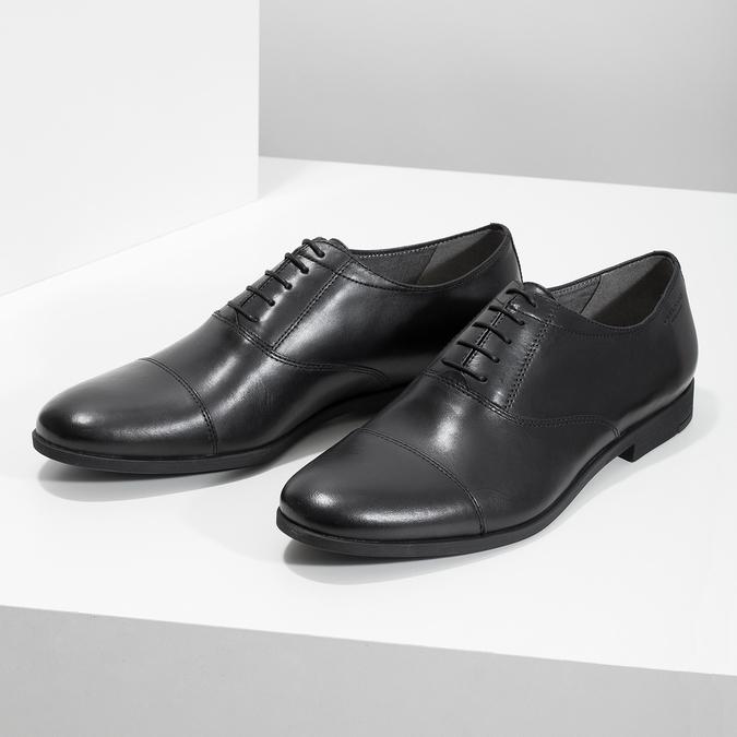 Schwarze Lederhalbschuhe im Oxford-Stil vagabond, Schwarz, 824-6048 - 16