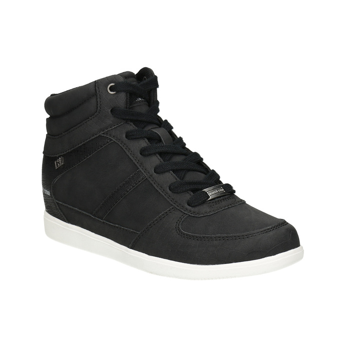 Knöchelhohe Damen-Sneakers north-star, Schwarz, 641-6600 - 13