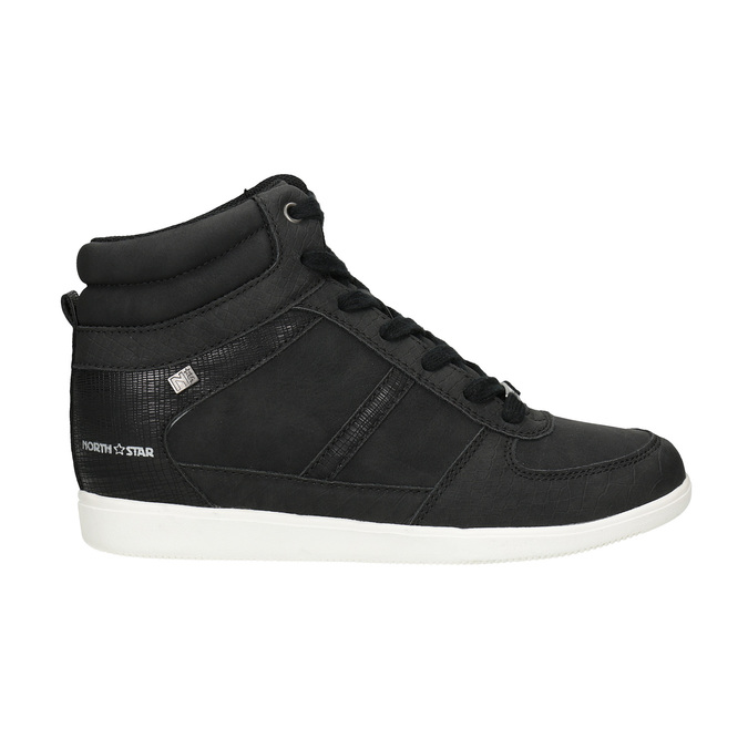 Knöchelhohe Damen-Sneakers north-star, Schwarz, 641-6600 - 16