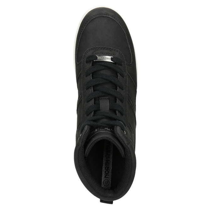 Knöchelhohe Damen-Sneakers north-star, Schwarz, 641-6600 - 17