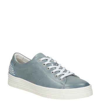 Damen-Sneakers aus Leder mit Perlen bata, Blau, 546-9606 - 13