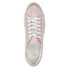 Rosa Leder-Sneakers mit kleinen Perlen bata, Rosa, 546-5606 - 15